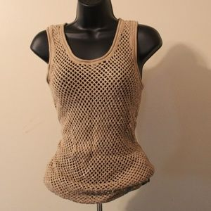 Sequined-Knit Michael Khors Tank Top